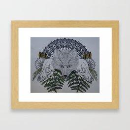 Fox & Fern Framed Art Print