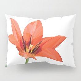 Red tulip Pillow Sham