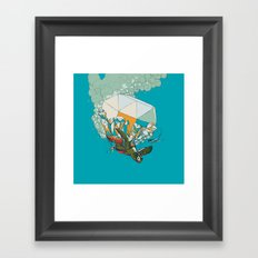 TURTLE& THE DIAMONDS Framed Art Print