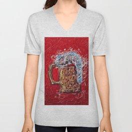 Abstract Beer - Inspired By Pollock  #society6 #wallart #buyart by Lena Owens @OLena Art Unisex V-Neck