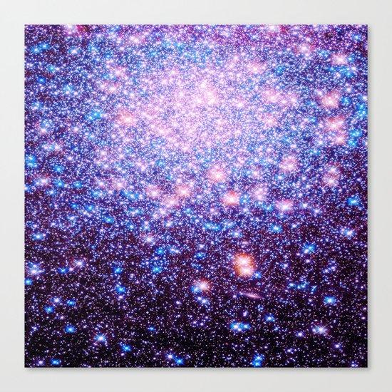 GaLaxY Stars : Pink Purple Blue Canvas Print