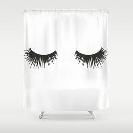 Closed Eyelashes Shower Curtain