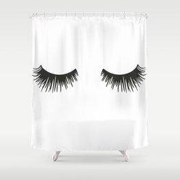 Closed Eyelashes Duschvorhang