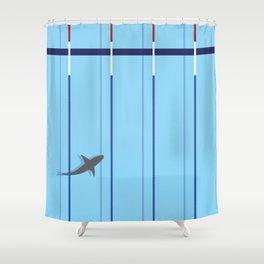 pool shark Shower Curtain