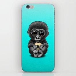 Cute Baby Gorilla With Football Soccer Ball iPhone Skin