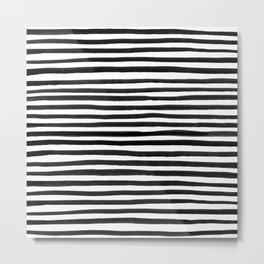 Ink Stripes Pattern Metal Print