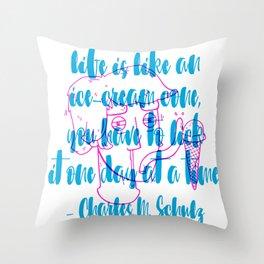 Ice-Cream Cone Throw Pillow