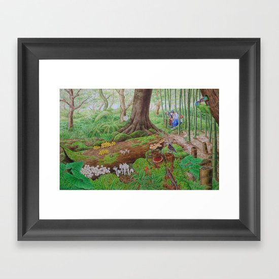 A Day of Forest (5). (dead wood ecosystem) Framed Art Print