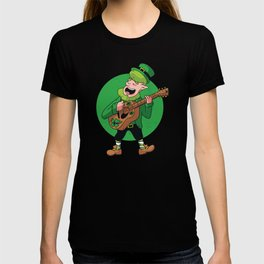 St. Patricks Day Leprechaun Guitar Music T-shirt