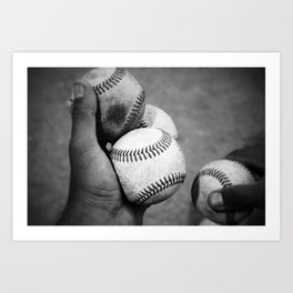 Batting Practice Art Print