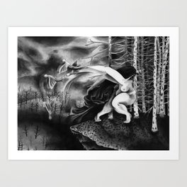 The Motion of Going Down Art Print