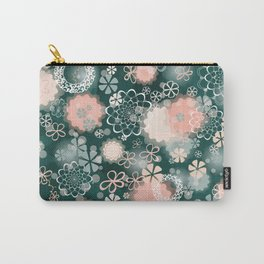 Lacy Flowers Seamless Repeating Pattern Carry-All Pouch