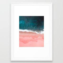 Turquoise Sea Pastel Beach III Framed Art Print