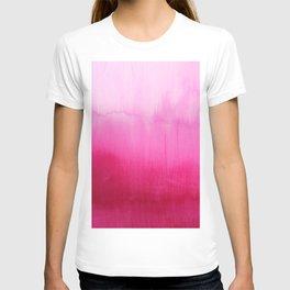 Modern fuchsia watercolor paint brushtrokes T-Shirt