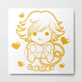 Kawaii Kiddies Cute Gamer Metal Print