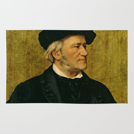 Richard Wagner (1813 – 1883) by Giuseppe Tivoli (b.1845) Rug