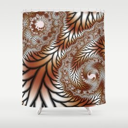 Tree Dance Fractal Shower Curtain