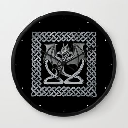 White Dragon Wall Clock