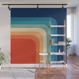 Retro 70s Color Palette III Wall Mural