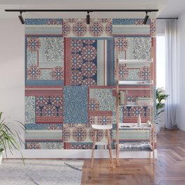 Woodblock Patchwork Wall Mural