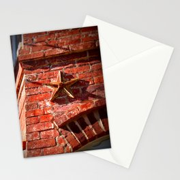 Star brick tie Stationery Cards