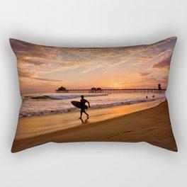Surf City Sunsets   9/10/15   Huntington Beach California  Rectangular Pillow