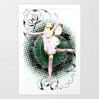 Pink Butterfly Fairy Ballet Art Print