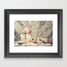 Snowmen Framed Art Print