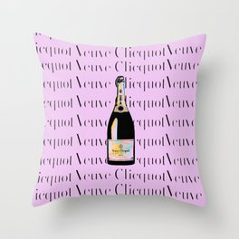 Veuve Clicquot Pop Art 2 - Pink Rainbow Throw Pillow