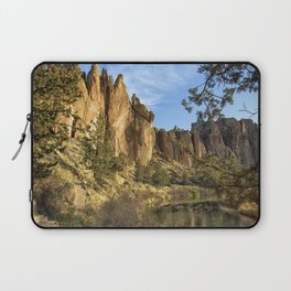 Cool Formations of Smith Rock in Morning Light Laptop Sleeve