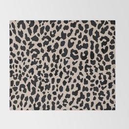 Tan Leopard Throw Blanket