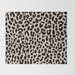 Tan Leopard Throw Blanket