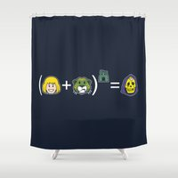 math Shower Curtains featuring He-Math by Mike Handy Art
