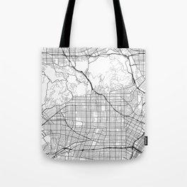 Hollywood California Street Map Minimal Tote Bag