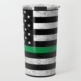 Thin Green Line Travel Mug