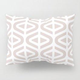 Mid Century Modern Split Triangle Pattern Light Beige Pillow Sham