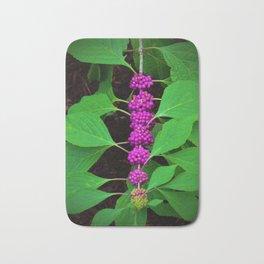 Purple Fruit Clusters Bath Mat