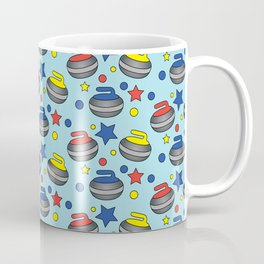 Curling Stone Print Coffee Mug