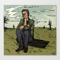 dean winchester Canvas Prints featuring Dean Winchester by kosmite