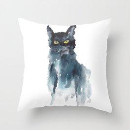 Cat Watercolor Throw Pillow