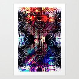 circuit board shadow Art Print