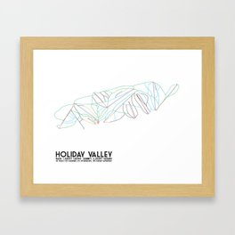 Holiday Valley, NY - Minimalist Trail Art Framed Art Print