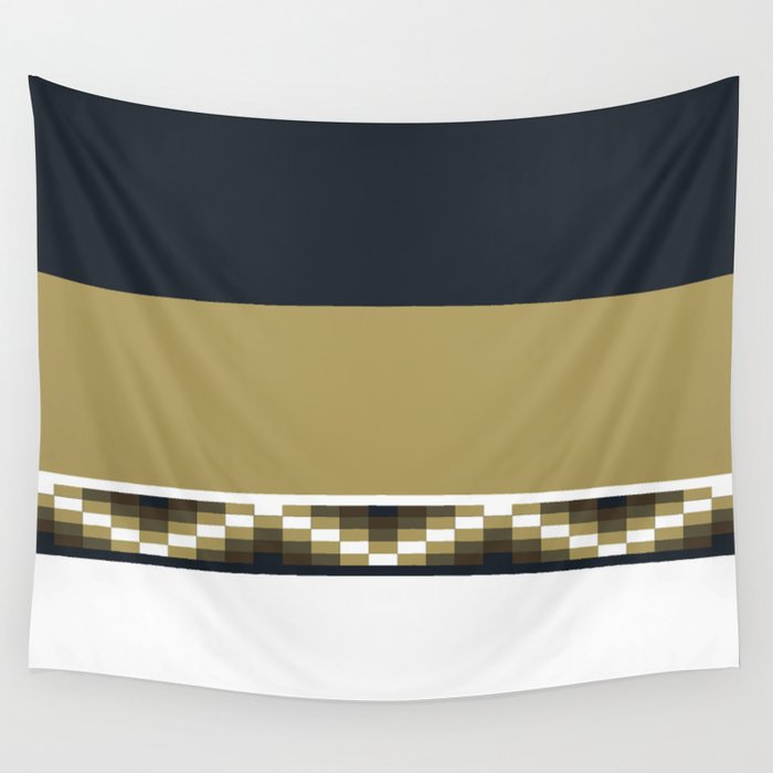 Block Wave Illustration 2 Thick Bold Horizontal Lines Digital Artwork Wall Tapestry