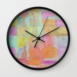 Pastel Melts Wall Clock