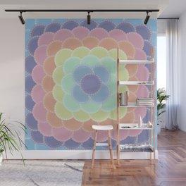 Layered Lace Circles Wall Mural