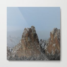 Smith Rock Snowbound Metal Print