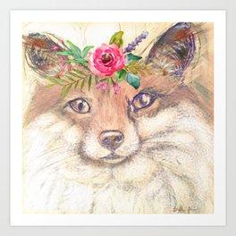 Forest Fox Art Print