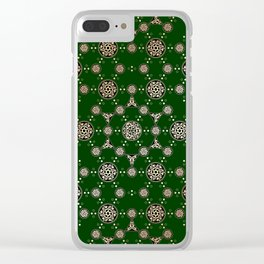 archaic pattern. crop circle. sacred geometry Clear iPhone Case