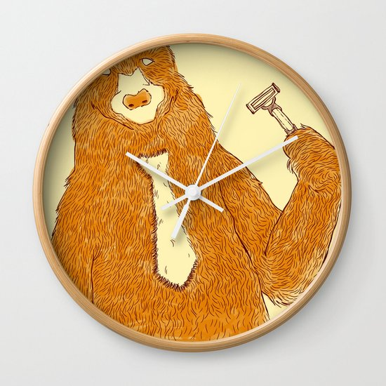 Office Bear Wall Clock