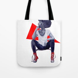 Red Kicks Tote Bag